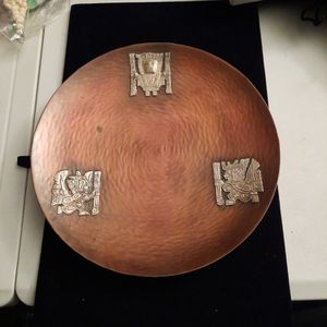 Cooper Plate with Peru Symbols made Of Sterling Silver By Vicky for Sale in Mount Rainier, MD