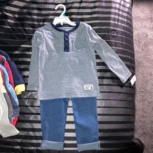 Cute Top And Bottom 3T/Grey Long Sleeved Onesie 18mo-24mo for Sale in Phoenix, AZ