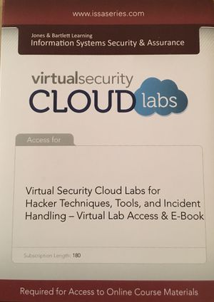 Virtual Security Cloud Labs for Hacker Techniques, Tools, and Incident Handling - Virtual Lab Access and eBook for Sale in Lexington, KY