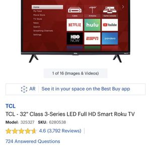 "Brand New TCL Roku Smart Tv 32"" for Sale in Marlow Heights, MD"