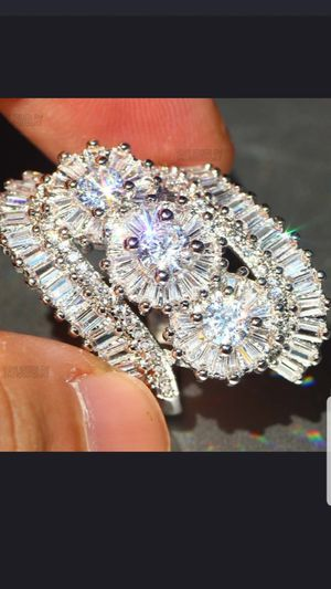 Sterling silver white sapphire ring size 8 for Sale in Dundalk, MD