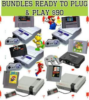 Nintendo bundles for sale ready to plug and play for Sale in Miami, FL
