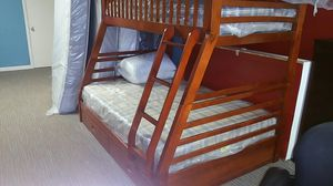 Twin/Full bunk bed + mattresses for Sale in Nashville, TN