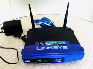 LINKSYS 2.4GHz - 54Mbps Cisco Wireless G Broadband Router Model WRT54G. Offers professional grade home networking. for Sale in Hanover, PA