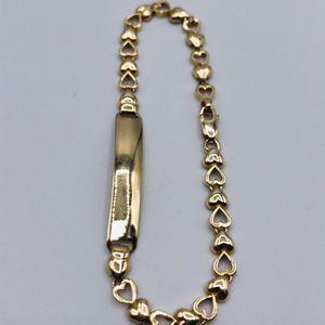 14k Real gold ID Kids-teen Bracelet Esclava de Oro for Sale in South Gate, CA