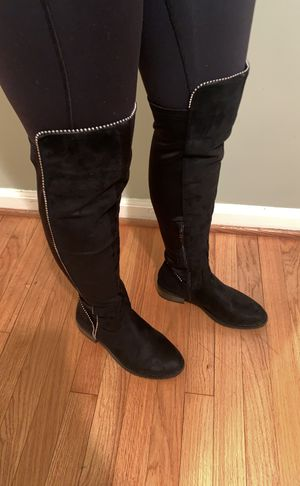 Thigh high black studded boots for Sale in Dearborn, MI