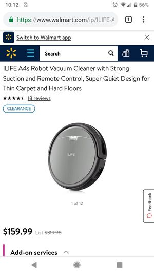 ILIFE robot vacuum for Sale in Marysville, OH
