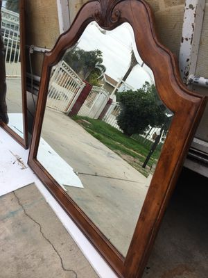 Solid wood wall mirror 48 x 35 for Sale in Colton, CA