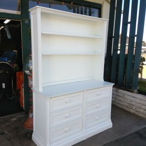 ROMINA 100% Solid Wood White Lowboy Double Dresser W/ Removable Shelf Organizer 2016 for Sale in Escondido, CA