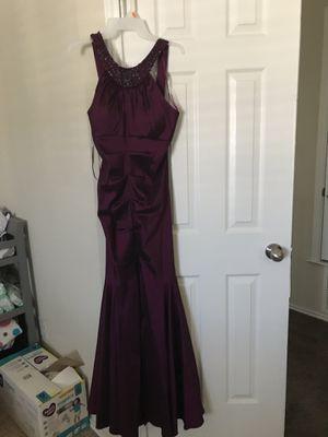 Burgundy mermaid ball dress for Sale in Killeen, TX