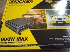 Kicker cxa 400.1 mono amp like new for Sale in Falls Church, VA