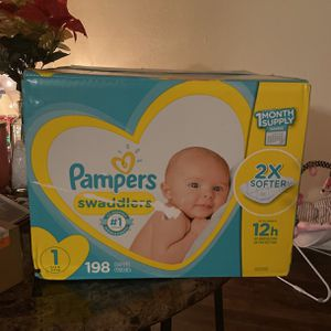 Pampers Swaddlers Size 1 198 Count for Sale in Decatur, GA