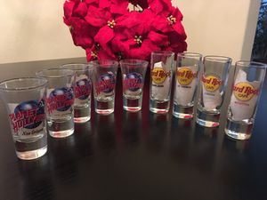 Shot Glass collection 9 pieces Hard Rock and Planet Hollywood for Sale in Houston, TX