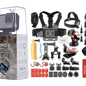 NEW SEALED GoPro HERO7 White HD Waterproof Action Camera CHDHB601 Sports Bundle for Sale in Aurora, CO