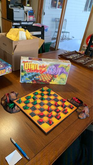 """USED: Kidology """"DINO Checkers"""" Game for Sale in Lake Hallie, WI"""