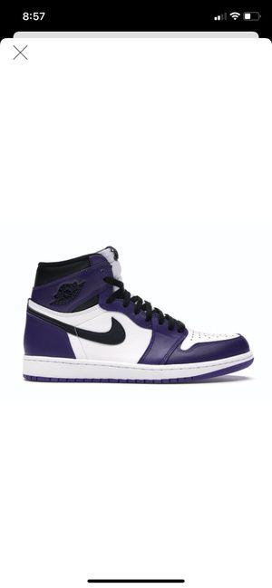 DEADSTOCK Jordan 1 court purple size 11 for Sale in Lathrop, CA