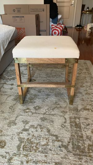 Neutral Stool Chair with Gold Hardware for Sale in Los Angeles, CA