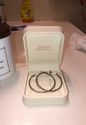 Jared small hoop earrings & pink pandora birthstone ring for Sale in Columbia, PA