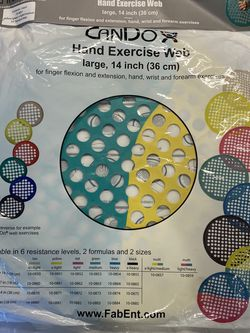 "Cando Hand Exercise Resistant Web 14"" Wrist & Forearm Exercises for Sale in Murrieta,  CA"