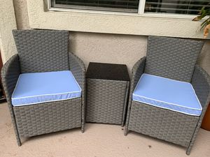 New resin wicker patio outdoor furniture set for Sale in San Diego, CA