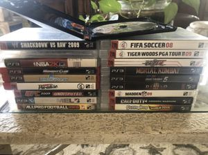 PS3 Playstation 3 19 Video Game Lot Call of Duty 4, Grand Theft Auto IV, Mortal Kombat + more for Sale in Palmdale, CA
