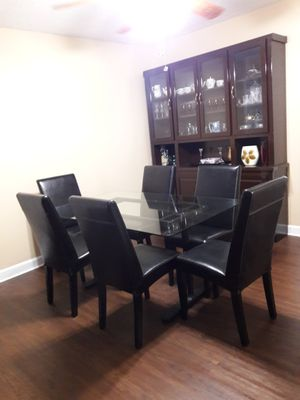 Dining room table, 6 chairs, breakfront for Sale in Sebring, FL