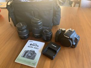 Canon Rebel T1i with 3 lenses for Sale in Tustin, CA