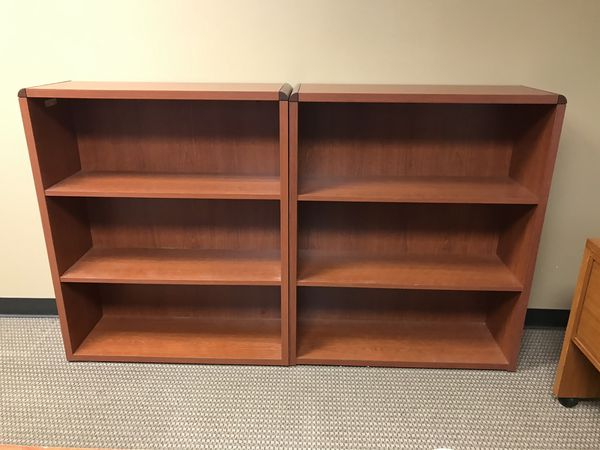 Large Office Desk and Bookshelves (3 pieces)