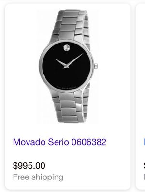 Movado authentic mens watch for Sale in El Paso, TX