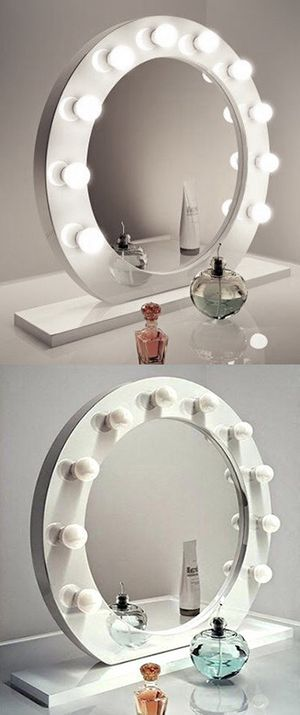 """New in box $220 White 28"""" Vanity Mirror w/ 10 Dimmable LED Light Bulbs, Hollywood Beauty Makeup USB Outlet for Sale in Whittier, CA"""