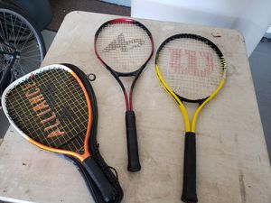 2 Tennis Rackets and a Racket Ball Racket for Sale in Peoria, AZ