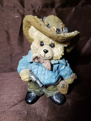 Vintage Bank Robber Teddy Bear Collectible Statue. for Sale in Sheffield Lake, OH