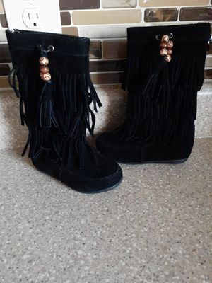 Black Fringe Boots for Sale in Winston-Salem, NC