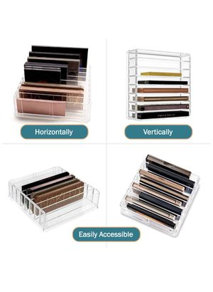 2 Packs Makeup Organizer Compact Makeup Palette Organizer 8 Spaces Makeup Holder Organizer For Vanity Clear Cosmetics Makeup Drawer Organizer With Re for Sale in Windermere, FL