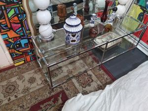 Glass and chrome rectangle shaped coffee table for Sale in Fresno, CA