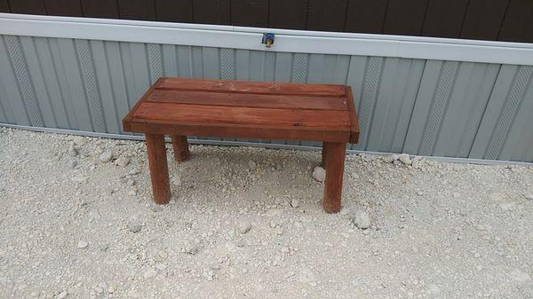 Homemade bench