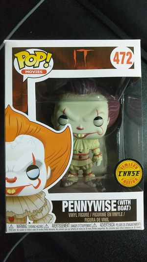 Funko Pop Figure - Pennywise (with boat) Chase 472 for Sale in Livermore, CA