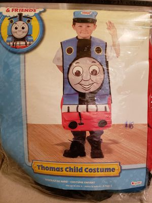 Thomas & friends boys costume size fits 5t-6t. In great condition worn one time.from a smoke pet free home for Sale in West Jordan, UT