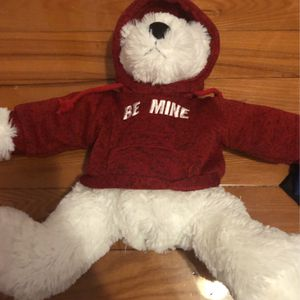 valentine's day teddy bear with red hoodie for Sale in Rockville Centre, NY