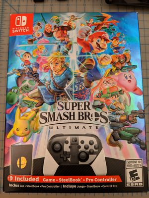 New Super smash Bros ultimate special edition for Nintendo switch for Sale in San Francisco, CA
