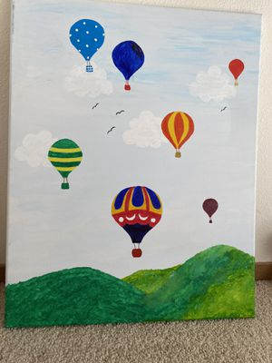 Hand painting of balloons for Sale in Kent, WA