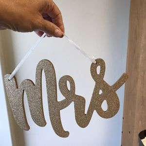 "Gold ""Mrs"" Sign for Sale in San Diego, CA"
