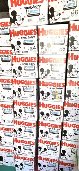 Huggies Snug dry size 1,2,3,4,5,6 $24 A Box for Sale in Gardena, CA