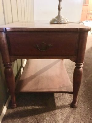 Bedroom nightstand or side table and desk lamp for Sale in Las Vegas, NV