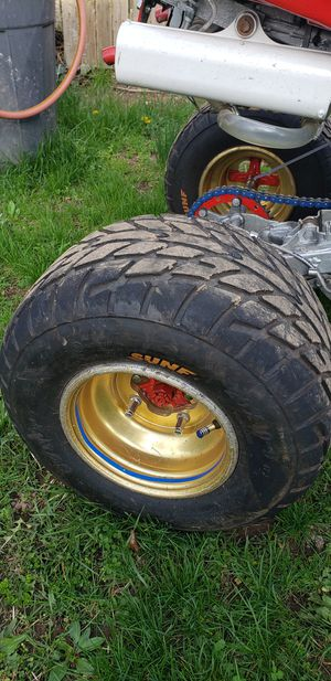 Street Tires and gold rims for Sale in IND HILLSIDE, NJ
