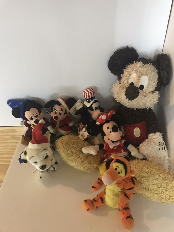 Disney Plush micky Mouse Minnie Mouse tigger