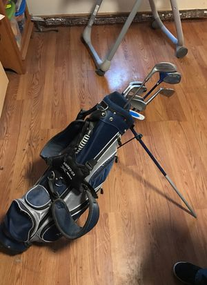 Back back caddy and clubs golf for Sale in Hopkinton, MA