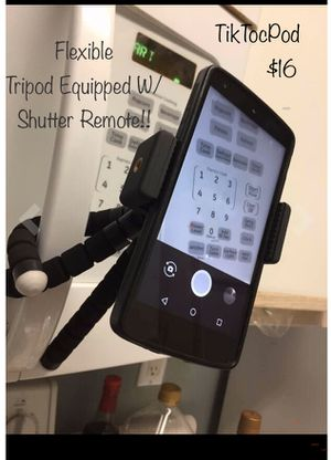 """TicTokPod"""" Flexible Tripod (Universal Mount) Equipped With Innovative Shutter Remote! Remotely & CONVENIENTLY Connect To Your PHONE'S CAMERA FUNCTION! for Sale in Milwaukee, WI"""