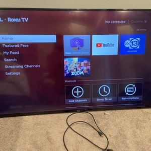 Brand new 65 inch Roku Flat Screen Tv for Sale in Houston, TX