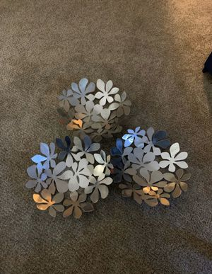 3 Silver Home Decor Pieces for Sale in Dixon, CA